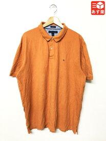 トミー ヒルフィガー/TOMMY HILFIGER 鹿の子 ポロシャツ 半袖 ワンポイント サイズ:XXL オレンジ系【Custom Fit】【古着】 古着 【中古】 中古 mellow【あす楽対応】【古着 mellow楽天市場店】