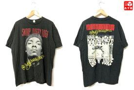 【ゆうパケット対応】Snoop Dogg/スヌープ・ドッグ 両面プリント バンド Tシャツ 半袖 サイズ:L ブラック【新品】 新品 mellow 【あす楽対応】【古着屋mellow楽天市場店】