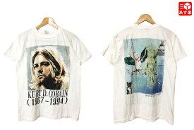 【ゆうパケット対応】カート・コバーン/Kurt Cobain 両面プリント バンド Tシャツ 半袖 サイズ:M ホワイト【新品】 新品 mellow 【あす楽対応】【古着屋mellow楽天市場店】