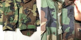 86年製ALPHA製アメリカ軍U.S.ARMYM-65ウッドランドカモフィールドジャケットサイズ:X-SMALLX-SHORT【ミリタリージャケット】【古着】古着【中古】中古mellow【あす楽対応】【古着屋mellow楽天市場店】