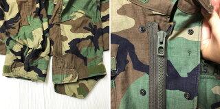 93年製アメリカ軍U.S.ARMYM-65ウッドランドカモフィールドジャケットワッペン付きサイズ:MEDIUM-SHORT【ミリタリージャケット】【古着】古着【中古】中古mellow【あす楽対応】【古着屋mellow楽天市場店】