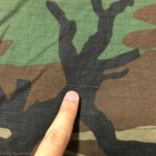 87年製アメリカ軍U.S.ARMYM-65ウッドランドカモフィールドジャケットワッペン付きサイズ:MEDIUM-SHORT【ミリタリージャケット】【古着】古着【中古】中古mellow【あす楽対応】【古着屋mellow楽天市場店】