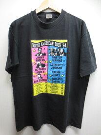"""【中古】Premier wear/ """"NORTH AMERICAN TOUR '94""""プリント Tシャツ 黒 Made in U.S.A【サイズ:X-LARGE】【フェス系】【アメカジ】【ヒップホップ】【ブルース】【あす楽】【古着屋mellow楽天市場店】"""
