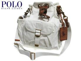 【新品】Polo Ralph Lauren ラルフローレン 巾着型 キャンバス ショルダーバッグ オフホワイト 【Canvas Drawstring Shoulder Bag】【2WAY】【smtb-m】【あす楽対応】【古着屋mellow楽天市場店】