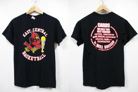 EAST CENTRAL BASKETBALL 両面プリント 半袖 Tシャツ 黒 【サイズ:S】【カレッジ】【あす楽対応】【古着屋mellow楽天市場店】【中古】