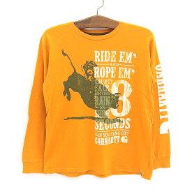 カーハート/Carhartt ロングスリーブ Tシャツ 長袖 ロデオ プリント 袖プリ サイズ:Boy's XL オレンジ【古着】 古着 【中古】 中古 mellow【あす楽対応】【古着 mellow楽天市場店】