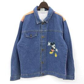 ディズニー ミッキーマウス/Disney Mickey Mouse デニム ジャケット サイズ:Boy's? L 色落ち Made in CANADA 【古着】 古着 【中古】 中古 mellow 【あす楽対応】【古着屋mellow楽天市場店】
