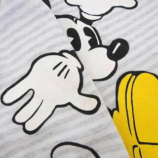 ディズニーミッキーマウスDisneyMickeyMouseプリントスウェットシャツトレーナー長袖ボーダー柄サイズ:ONESIZEホワイト×グレーMadeinU.S.A【古着】古着【中古】中古mellow【あす楽対応】【古着屋mellow楽天市場店】