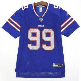 NFL Buffalo Bills/バッファロービルズ メッシュ フットボールジャージ 半袖 サイズ:L ブルー 【古着】 古着 【中古】 中古 mellow 【古着屋mellow楽天市場店】