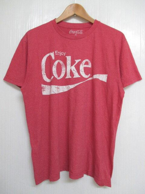 コカ・コーラ/Coca-Cola ロゴ プリント Tシャツ 半袖 サイズ:L レッド 【古着】 古着 【中古】 中古 mellow 【あす楽対応】【古着 mellow楽天市場店】