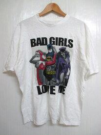 """DC COMICS ORIGINALS """"バットマン/BAT MAN"""" プリント Tシャツ 半袖 サイズ:XL ホワイト 【古着】 古着 【中古】 中古 mellow 【あす楽対応】【古着屋mellow楽天市場店】"""