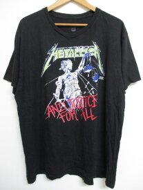 メタリカ/Metallica 両面プリント バンド Tシャツ 半袖 サイズ:Men's M〜L位 ブラック 【古着】 古着 【中古】 中古 mellow 【あす楽対応】【古着屋mellow楽天市場店】