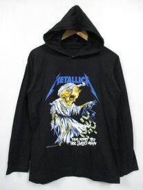 メタリカ/Metallica プリント フード付き Tシャツ 長袖 サイズ:Men's M位 ブラック 【古着】 古着 【中古】 中古 mellow 【あす楽対応】【古着屋mellow楽天市場店】