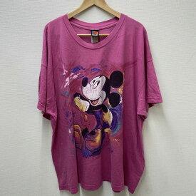 【ゆうパケット対応】MICKY UNLIMITED Tシャツ 半袖 ミッキーマウス プリント サイズ:Men's XXL位 ピンク 【古着】 古着 【中古】 中古 Disney ディズニー mellow 【あす楽対応】【古着屋mellow楽天市場店】