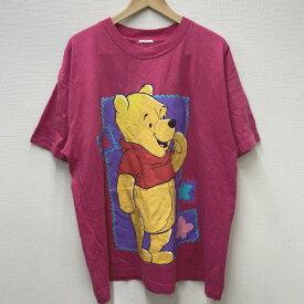 【ゆうパケット対応】 くまのプーさん プリント Tシャツ 半袖 サイズ:Men's XL位 ピンク【古着】 古着 【中古】 中古 Disney ディズニー mellow 【あす楽対応】【古着屋mellow楽天市場店】