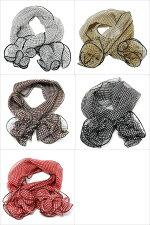 カラー:小さいドット柄(水玉)シルク100%!ワンタッチのプチスカーフ