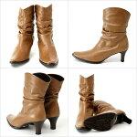 詳細:牛革レザーのショートブーツ♪柔らか抜群の履き心地!エレガントスタイルをクールにカッコ良く着こなしたい大人の女性にピッタリのハーフブーツ!