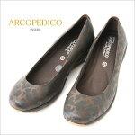 アルコペディコ(ARCOPEDICO)LラインDRESS(ドレス)バレリーナパンプスに上品なプリント柄(フィギュア)♪おしゃれで快適な履き心地!