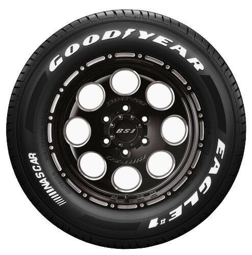 数量限定 200系ハイエース用!JF008M(ブラッククリア)&GOODYEAR EAGLE #1 NASCAR 215/65-16C 4本セット