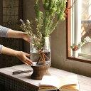 BOLD フラワーベース スタンド おしゃれ 花瓶 ガラス 木 ナチュラル