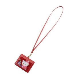 フェイラー公式/FEILER HELLO KITTYコラボ ハローキティローズ IDパスケース HKR-170033(レッド)