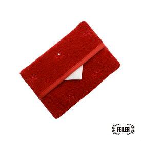 フェイラー公式/FEILER ラブラリープリティカラー リボン刺繍ティッシュポーチ L/LPC-163130
