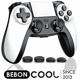 PS4 コントローラー BEBONCOOL ワイヤレス ps4コントローラー PS4/Pro/Slim 対応 プレステ4 コントローラー 600mAhバッテリー内蔵 Bluetooth 遅延なし HD振動 ジャイロセンサー ヘッドセット端子 LEDライトバー搭載