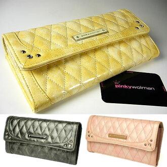 圣诞节早割!钱包/Pinky Wolman/彩色粉笔长钱包/女士