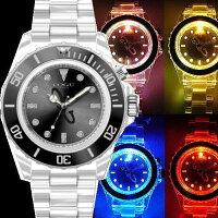 COGUITALYナイトフラッシュ/ウォッチLED発光男女兼用/メンズ・レディース/腕時計
