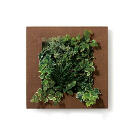 PIANTA×STANZA(ピアンタ・スタンツァ)マイギャラリー・Mサイズ500×500mmチーク(フェイクグリーン/人工植物・縦2段)