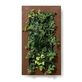 PIANTA×STANZA(ピアンタ・スタンツァ)マイギャラリー・Lサイズ500×900mmチーク(フェイクグリーン/人工植物・縦4段)