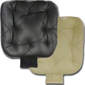 ソフトレザーワイドシングルクッション ストッパー付 ブラック ベージュ ワイドサイズ