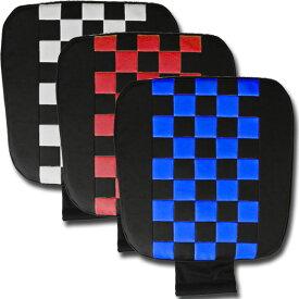 スクープ低反発シングルクッション ストッパー付 ホワイト レッド ブルー