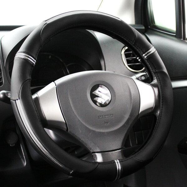 ハンドルカバー 軽自動車 コンパクトカー ミニバン ライトニングブラック ベージュ Sサイズ36.5〜37.9cm