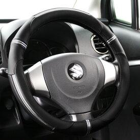 ハンドルカバー 軽自動車 コンパクトカー ミニバン ライトニングブラック ベージュ Sサイズ36.5〜37.9cm フェリスヴィータ