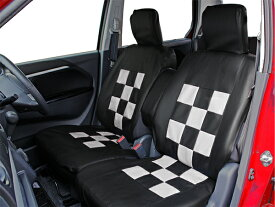 スクープビッグ軽自動車フリー フロント用 ホワイト レッド ブラック レザー調 送料無料 軽自動車汎用 前席