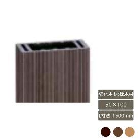 デザイナーズパーツ 強化木材 枕木材 50×100 L寸法1500mm部材 おしゃれ スタイリッシュ 庭 ガーデン DIY リクシル LIXIL