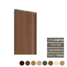 デザイナーズパーツ リアル木調平板 15×100 L寸法4000mm ラッピング形材色部材 おしゃれ スタイリッシュ 庭 ガーデン DIY リクシル LIXIL