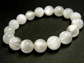 パワーストーン 天然石 ホワイトルチル ルチルクォーツ 白針水晶 ブレスレット 12mm 【Felistone】 WHRB08