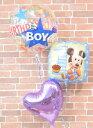 first birthdayバルーンギフト【誕生日 ディズニー 1歳 バルーン ミニー バルーン電報 ヘリウム キャラクター バルー…