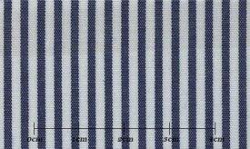 ファーストコレクション ブルー系 ストライプ オーダーシャツ 綿50% ポリ50% 3090350004 【RCP】