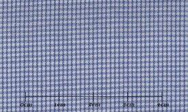 ファーストコレクション ブルー系 チェック オーダーシャツ 綿50% ポリ50% 3090350008 【RCP】