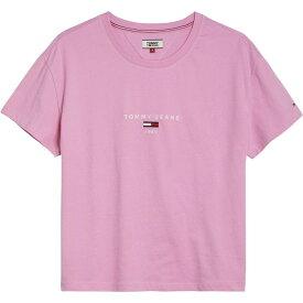 トミー ヒルフィガー Tommy Hilfiger レディース Tシャツ トップス【Logo T-Shirt】Lilac