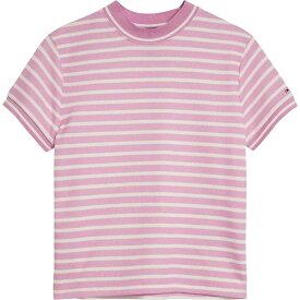 トミー ヒルフィガー Tommy Hilfiger レディース Tシャツ トップス【Double Stripe T-Shirt】Lilac