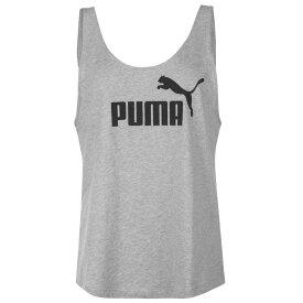 プーマ Puma レディース タンクトップ トップス【Essential Logo Tank Top】Lt Grey Hthr