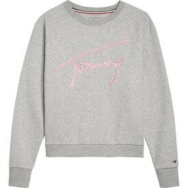 トミー ヒルフィガー Tommy Hilfiger レディース スウェット・トレーナー トップス【Tommy Jeans Signature Sweatshirt】Light Grey
