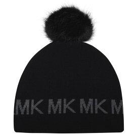 マイケル コース MICHAEL Michael Kors レディース ニット ビーニー 帽子【MMK MK Beanie】Black