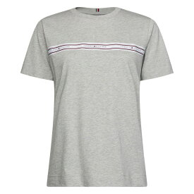 トミー ヒルフィガー Tommy Hilfiger レディース Tシャツ トップス【Raven Logo T-shirt】Light Grey