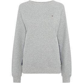 トミー ヒルフィガー Tommy Bodywear レディース スウェット・トレーナー トップス【Crew neck taping sweatshirt】Grey