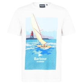 バブアー Barbour Lifestyle メンズ Tシャツ トップス【Outboard T-Shirt】White WH